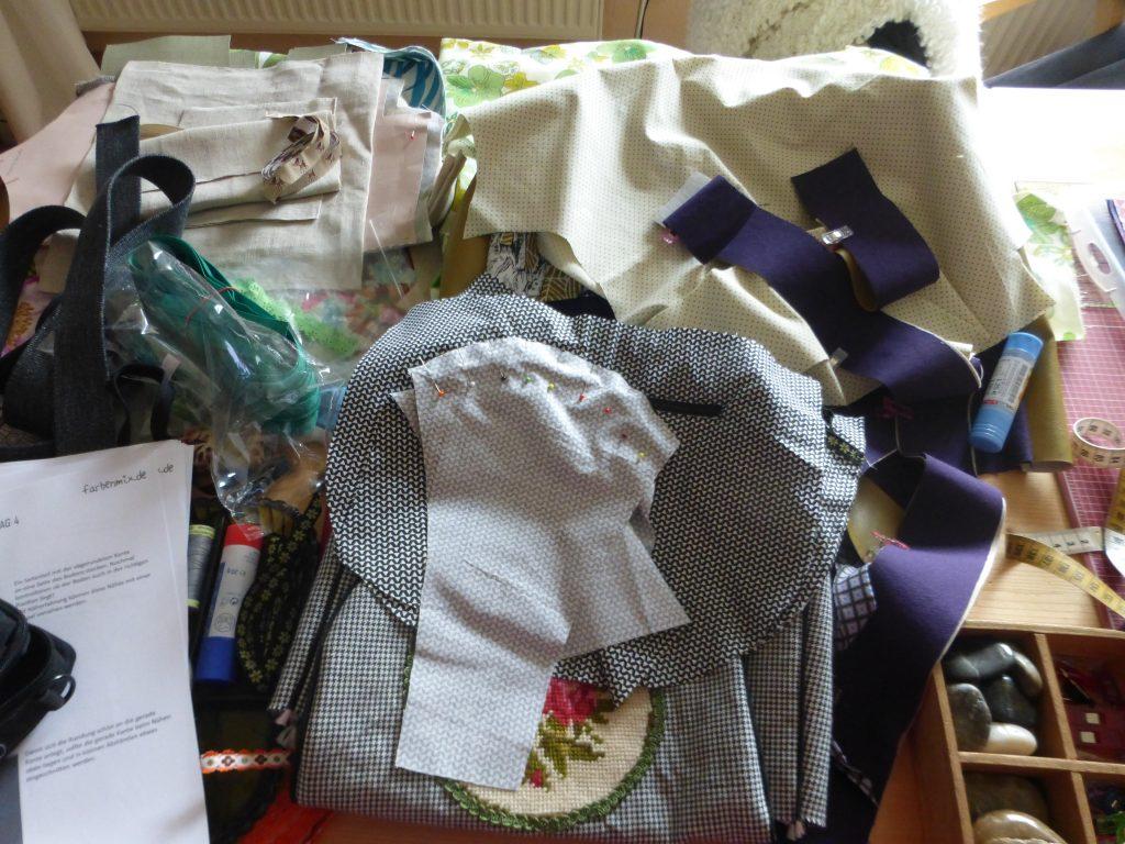 Taschen in Arbeit Juli